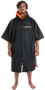 2019 Dryrobe Advance Short Sleeve Premium Outdoor Change Robe / Poncho DR100 - Black / Orange