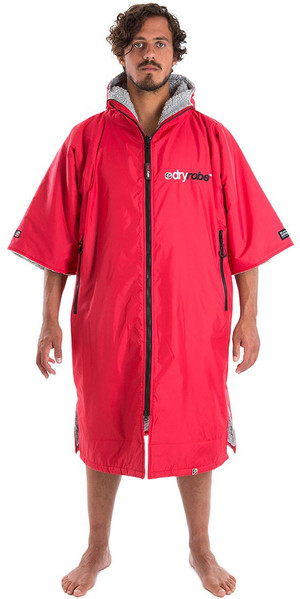 2019 Dryrobe Advance - Short Sleeve Premium Outdoor Change Robe DR100 - L Red / Grey