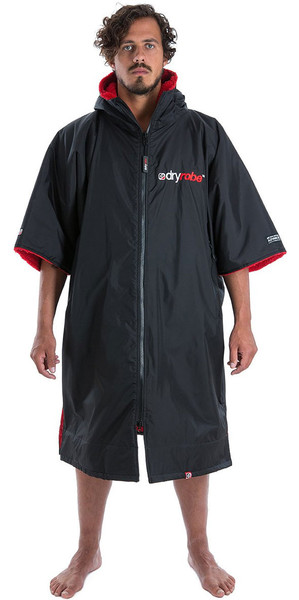 2018 Dryrobe Advance - Short Sleeve Premium Outdoor Change Robe DR100 - L Black / Red