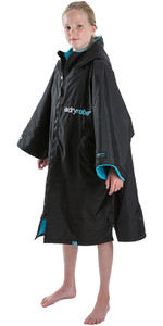 2020 Dryrobe Advance Junior Long Sleeve Premium Outdoor Change Robe / Poncho DR104 - Black / Blue