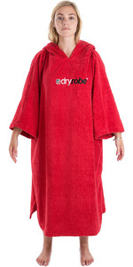 2020 Dryrobe Short Sleeve Towel Change Robe / Poncho SS TD R - Red