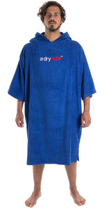 2019 Dryrobe Short Sleeve Towel Change Robe / Poncho Royal Blue
