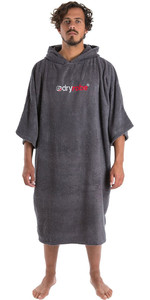 2020 Dryrobe Short Sleeve Towel Change Robe / Poncho SS TD SG - Slate Grey
