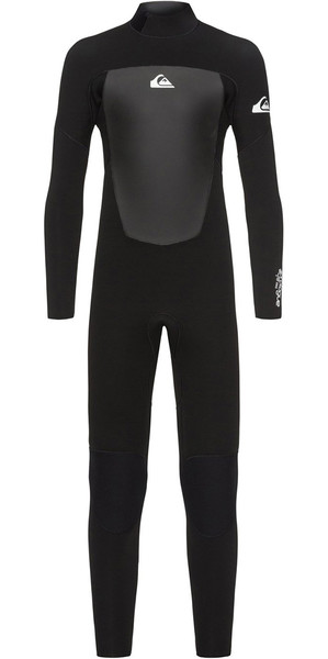 2018 Quiksilver Boys Prologue 5/4/3mm Back Zip Wetsuit Black EQBW103040