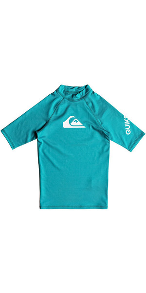 2018 Quiksilver Boys All Time Short Sleeve Rash Vest Typhoon EQBWR03060