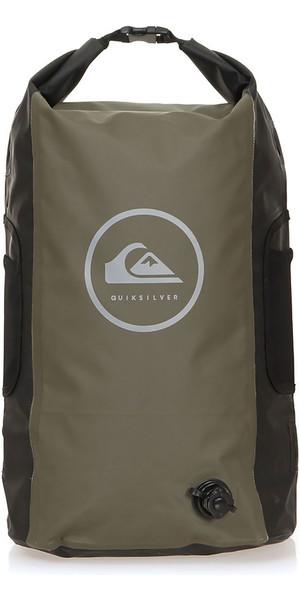 2019 Quiksilver Sea Stash II 35L Roll Top Back Pack Thyme EQYBP03485