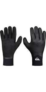 2019 Quiksilver Highline 4mm Neogoo 5 Finger Gloves Black EQYHN03035