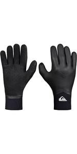 2019 Quiksilver Highline 4mm Neogoo 5 Finger Gloves Black EQYHN03035