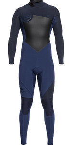 2018 Quiksilver Syncro 4/3mm Back Zip Wetsuit Iodine Blue / Slate EQYW103041