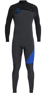 Quiksilver Syncro 5/4/3mm Chest Zip Wetsuit Graphite / Black / Deep Cyanine EQYW103066