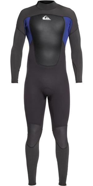 2019 Quiksilver Prologue 4/3mm Back Zip Wetsuit Black / Nite Blue EQYW103067