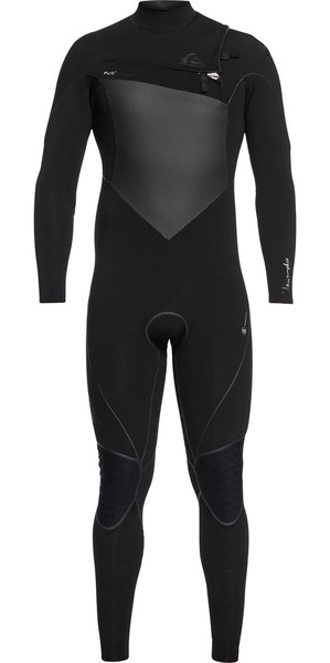 2018 Quiksilver Highline+ 3/2mm Chest Zip Wetsuit Black EQYW103060