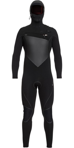 2018 Quiksilver Highline+ 6/5/4mm Hooded Chest Zip Wetsuit Black EQYW203010