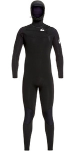 2019 Quiksilver Mens Syncro 5/4/3mm Chest Zip Wetsuit Black / White EQYW203014