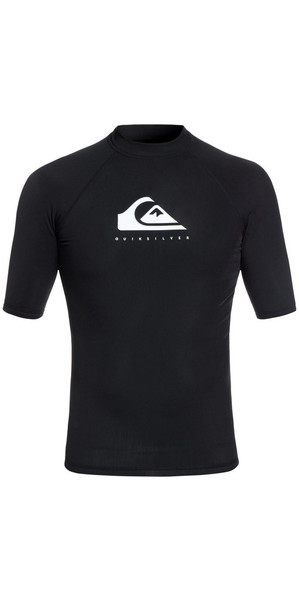 2018 Quiksilver Heather Short Sleeve Rash Vest Black EQYWR03134