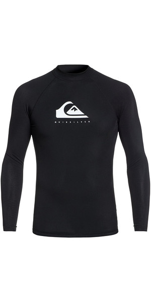 2018 Quiksilver Heather Long Sleeve Rash Vest Black EQYWR03135