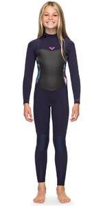 2018 Roxy Girls Syncro 4/3mm Back Zip Wetsuit Blue Ribbon ERGW103016