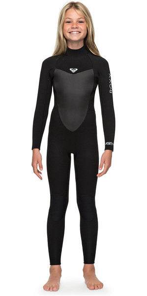 2018 Roxy Girls Prologue 4/3mm Back Zip Wetsuit Black ERGW103022
