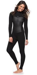 Roxy Womens Syncro 4/3mm Back Zip Wetsuit Black ERJW103027