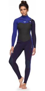 Roxy Womens Performance 3/2mm Chest Zip Wetsuit Blue Ribbon / Purple ERJW103031