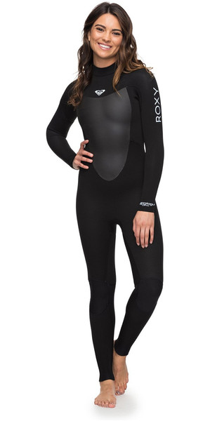 2018 Roxy Womens Prologue 4/3mm Back Zip Wetsuit Black ERJW103039