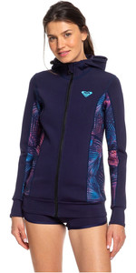 2020 Roxy Syncro Paddle Jacket Blue Ribbon / Coral Flame ERJW803013
