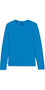 2019 Musto Womens SunShield Permanent Wicking UPF30 Long Sleeve T-shirt Brilliant Blue EWTS019