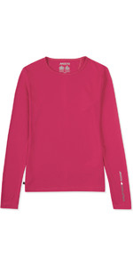 2019 Musto Womens SunShield Permanent Wicking UPF30 Long Sleeve T-shirt Magenta EWTS019