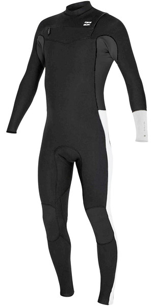 2018 Billabong Junior Revolution Tri-Bong 3/2mm Chest Zip GBS Wetsuit Slate F43B12