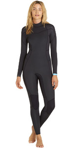 2018 Billabong Womens Synergy 5/4mm Back Zip Wetsuit BLACK SANDS F45G12