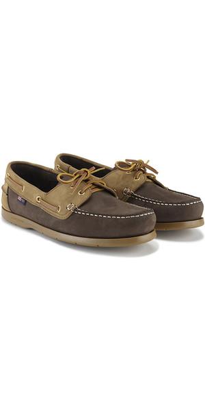 2019 Henri Lloyd Arkansa Deck Shoe Dark Brown / Brown Nubuck / Caramel F94412