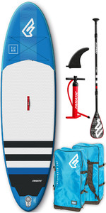 2019 Fanatic Fly Air 10'4 Inflatable SUP Package 1131 - Board, Carbon 25 Paddle, Bag Pump & Leash - Blue
