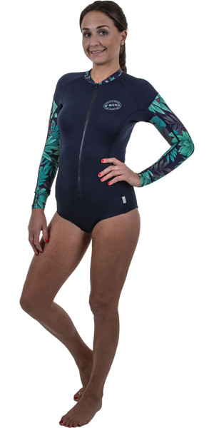 2019 O'Neill Womens Full Zip Long Sleeve Surf Suit Abyss /Faro 5312S