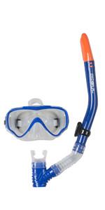 2019 Gul JUNIOR TARPON Mask & Snorkel Set in Blue / Black GD0002