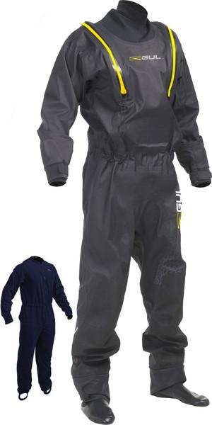2018 Gul /Junior Code Zero Stretch U-Zip Drysuit + Pee Zip Black GM0368-B5 INCLUDING UNDERFLEECE