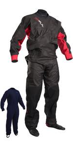 2018 GUL Junior Dartmouth Eclip Zip Drysuit BLACK / RED GM0378-B3 WITH FREE UNDERSUIT