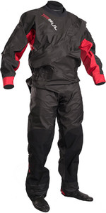GUL Junior Dartmouth Eclip Zip Drysuit BLACK / RED GM0378-B3