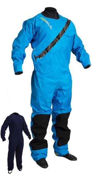 2019 GUL Junior Dartmouth Eclip Zip Drysuit Blue GM0378-B5 WITH FREE UNDERSUIT
