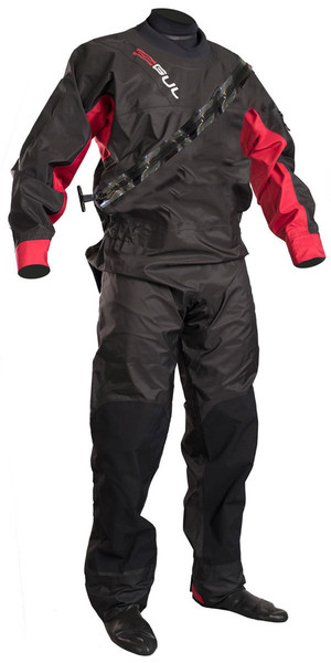 2019 GUL Junior Dartmouth Eclip Zip Drysuit BLACK / RED GM0378-B5