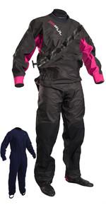 2019 GUL Womens Dartmouth Eclip Zip Drysuit Black / Pink GM0383-B5 INCLUDING UNDERFLEECE