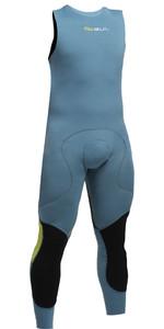 2019 GUL CODE ZERO 1MM FLATLOCK LONG JOHN Wetsuit PEWTER CZ4309-B2