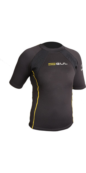 2019 GUL Evotherm Junior Thermal Short Sleeve Top BLACK EV0063-B3