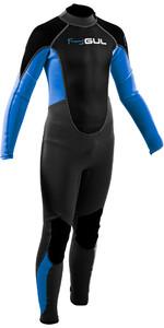 2020 GUL Junior Response 3/2mm Back Zip Wetsuit RE1322-B7 - Grey / Blue