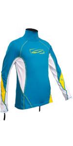 2020 GUL Junior Long Sleeve Rash Vest Crip / White RG0344-B4