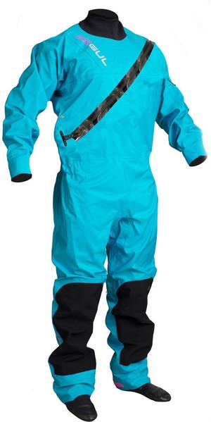 2019 GUL Womens Dartmouth Eclip Zip Drysuit BLUE GM0383-B5