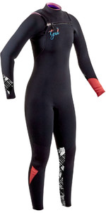 2020 GUL Womens Response FX 3/2mm Chest Zip Wetsuit RE1262-B7 - Black