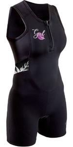 2020 GUL Womens Response 3/2mm Front Zip Short Jane Wetsuit RE5306-B7 - Black