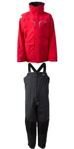 2020 Gill OS3 Mens Coastal Jacket OS31J & OS3 Mens Coastal Trousers OS31T COMBI SET BRIGHT RED /  GRAPHITE