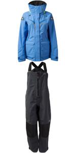 2019 Gill OS3 Womens Coastal Jacket OS31JW & OS3 Womens Coastal Trousers OS31TW COMBI SET LIGHT BLUE / GRAPHITE
