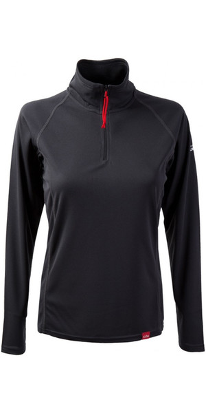 2018 Gill Women's UV Tec Zip Neck Top in Charcoal UV003W